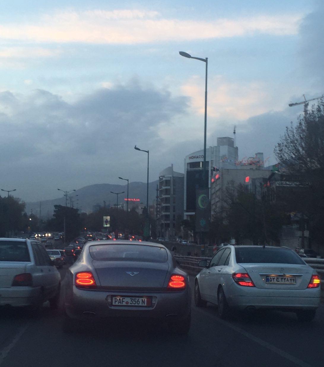 خودروی لوکس در خیابان های تهران + عکس