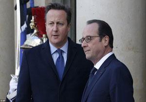 دیدار رئیس جمهور فرانسه و نخست وزیر انگلیس