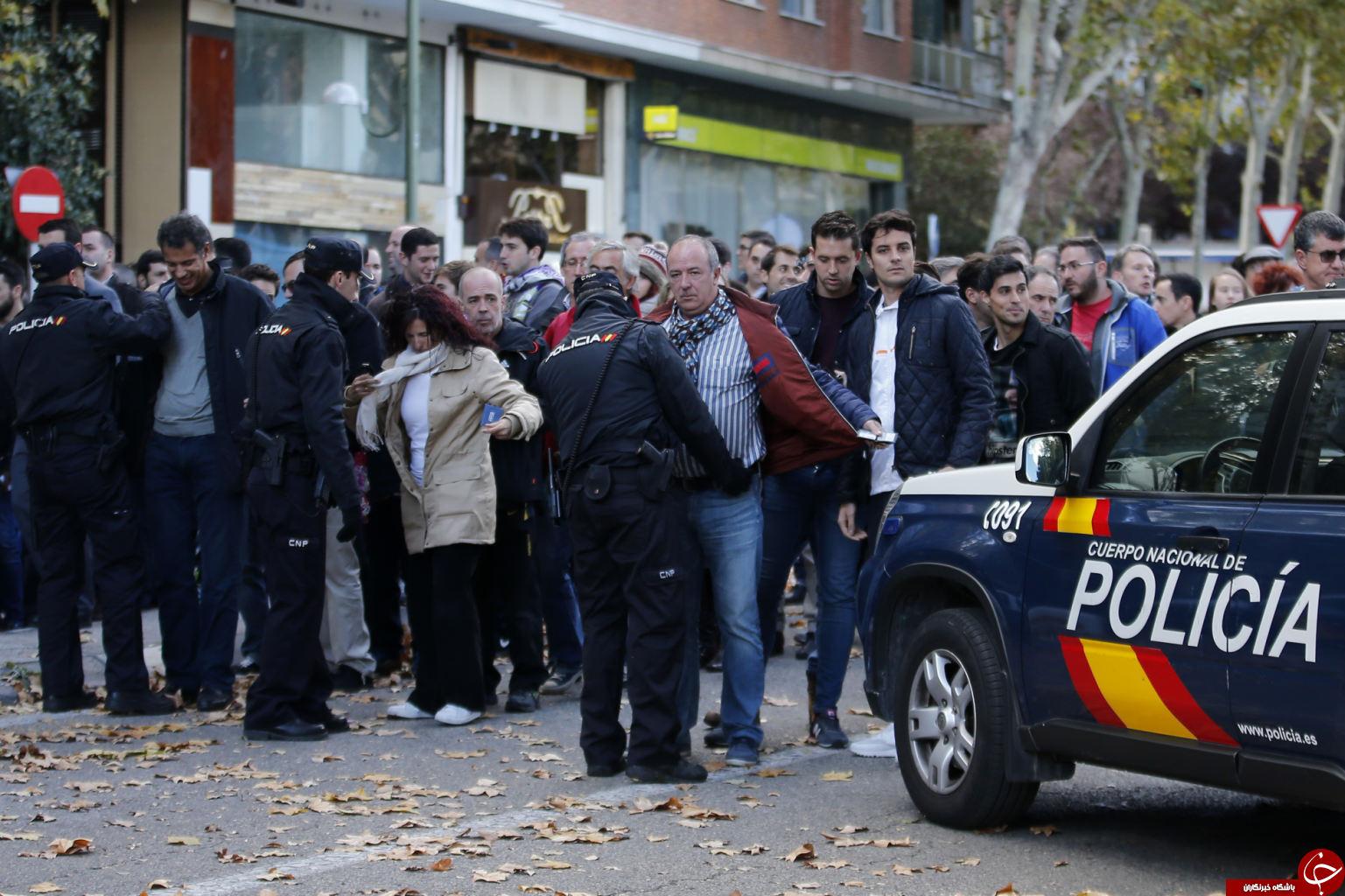 ورزشگاه سانتیاگو برنابئو در تدابیر شدید امنیتی + تصاویر