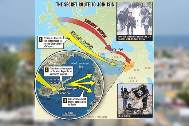 مسیر جهنمی داعشی های انگلیسی + تصاویر و نقشه