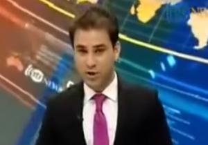 فرار مجری شبکه خبری «آریانا» در پی وقوع زلزله + فیلم