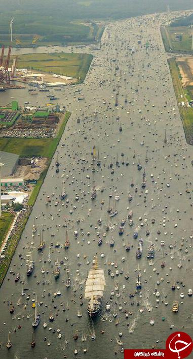 ترافیک دریای در آمستردام + عکس