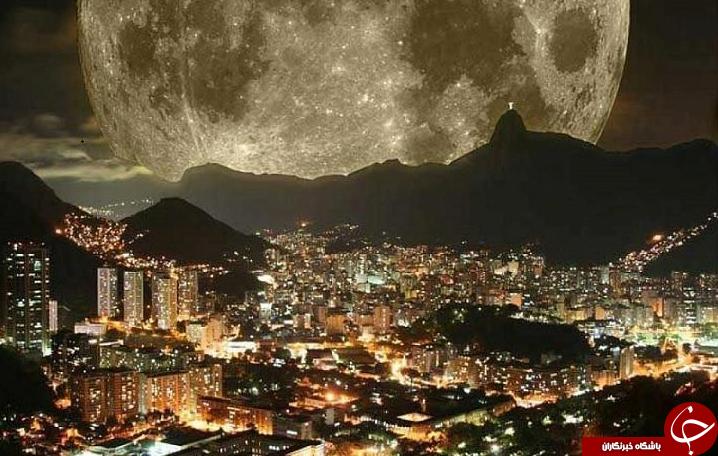 تصویر زیبا از نزدیکترین فاصله میان ماه و زمین