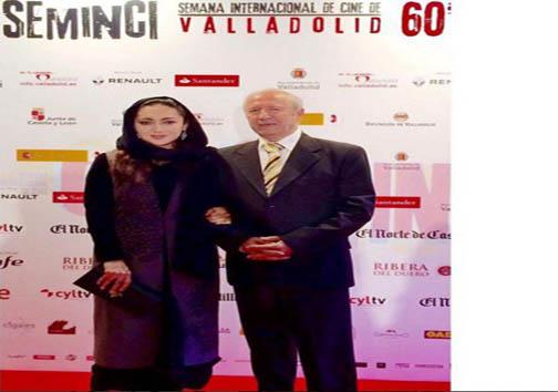 نیکی کریمی همراه پدر در افتتاحیه جشنواره وایادولید اسپانیا + عکس