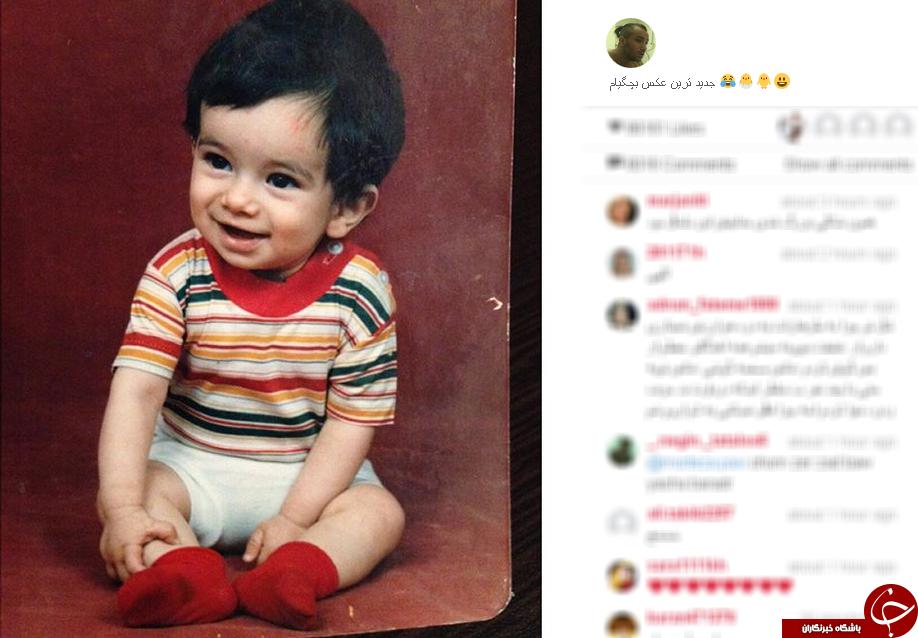 تتلو وقتی یک ساله بود+عکس