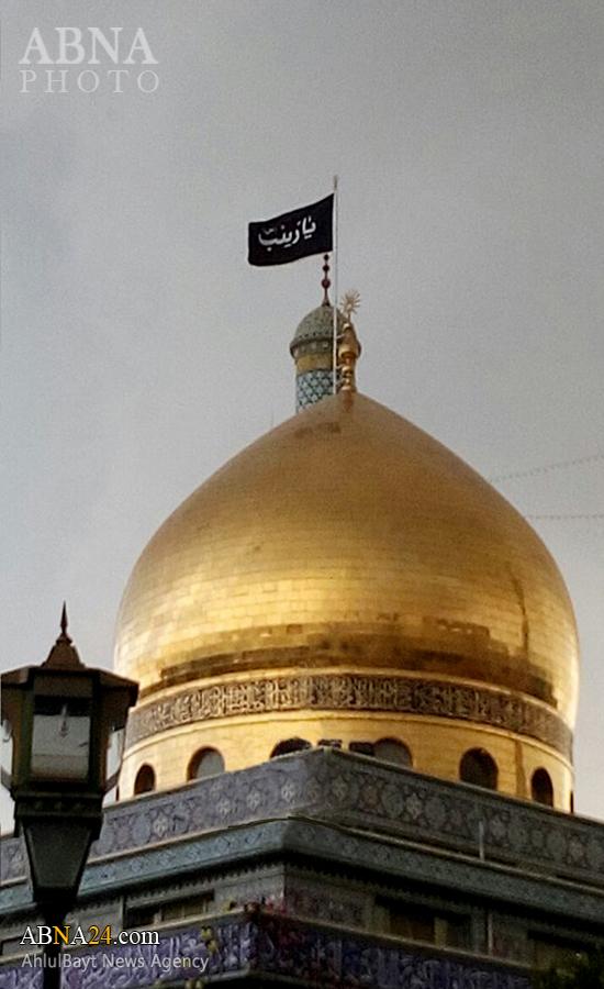 حرم حضرت زینب(س) در هوای بارانی دمشق + عکس