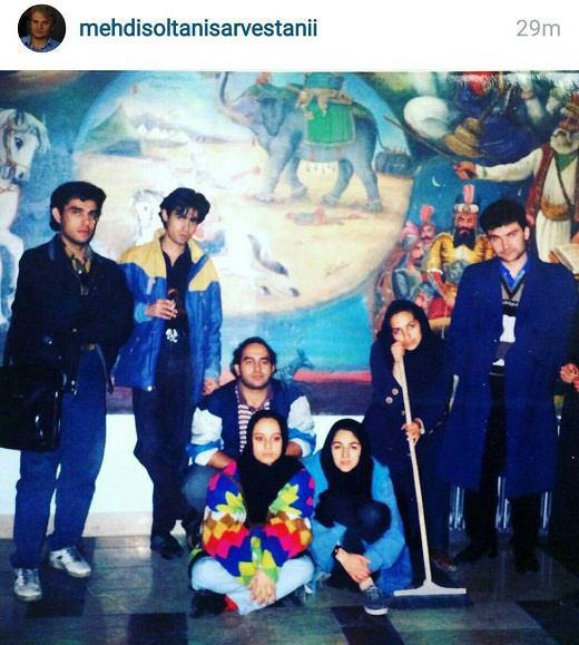 شهاب حسینی و مهدی سلطانی در دوران دانشجویی + عکس