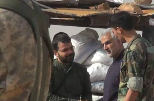 سردار سلیمانی در میان رزمندگان حلب+عکس