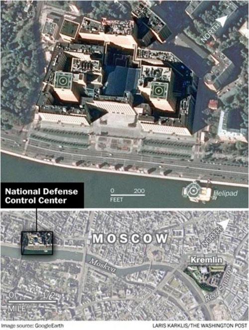 اتاق جنگ چند میلیارد دلاری ولادیمیر پوتین+ تصاویر