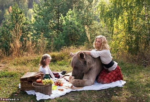 روز خوب مادر، دختر و خرس مهربون+تصاویر