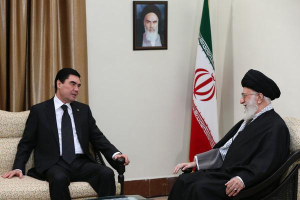 دیدار رئیس جمهور ترکمنستان با رهبر انقلاب