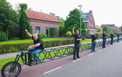 درازترین دوچرخه جهان! +عکس
