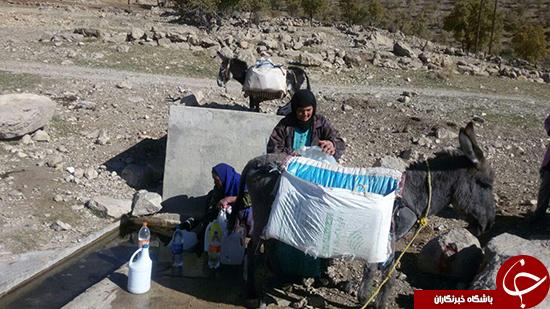 روستایی که محروم از آب لوله کشی است + تصاویر