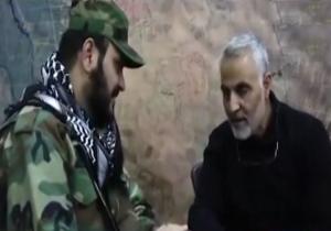 سردار سلیمانی در اتاق فرماندهی نبرد علیه داعش + فیلم
