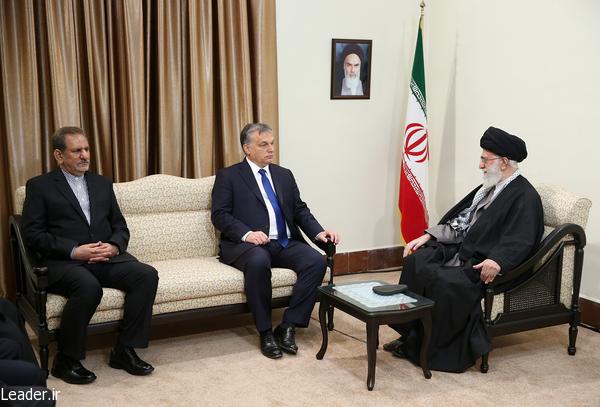 بیانات رهبر معظم انقلاب اسلامی در دیدار نخست وزیر مجارستان