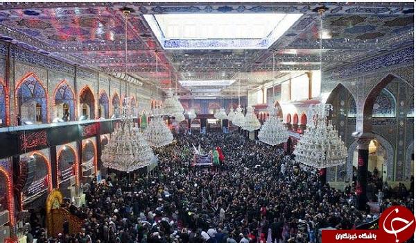 مراسم عزاداری زائران حسینی در اربعین +تصاویر