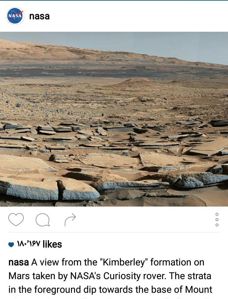 آب در دامنه کوه های مریخ! + عکس