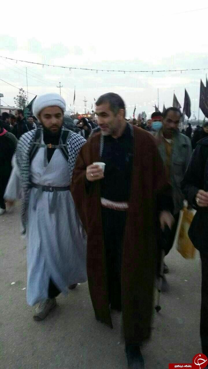 وزیر سابق احمدی نژاد در پیاده روی اربعین + عکس