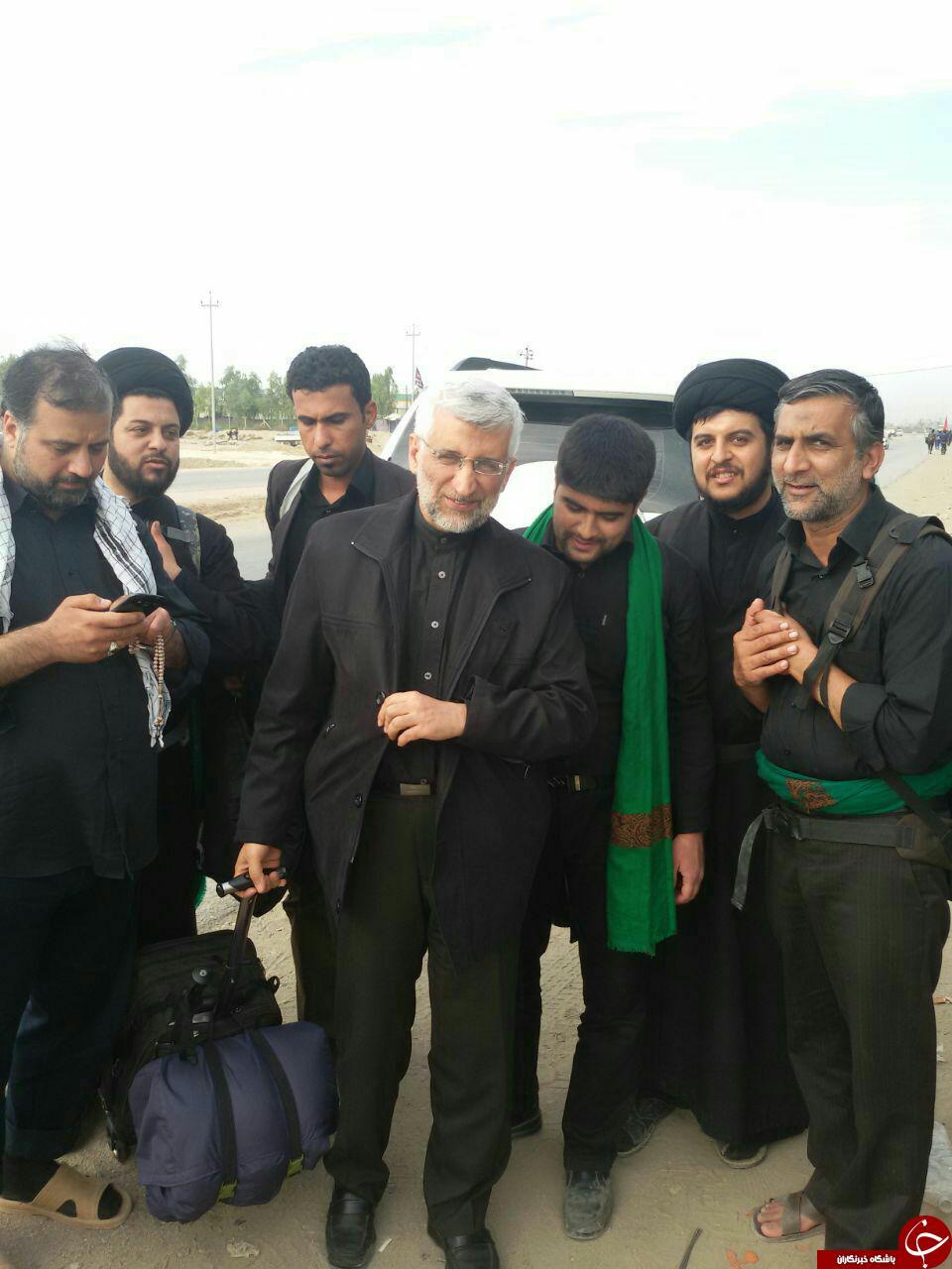 حضور جلیلی در راهپیمایی اربعین حسینی + عکس