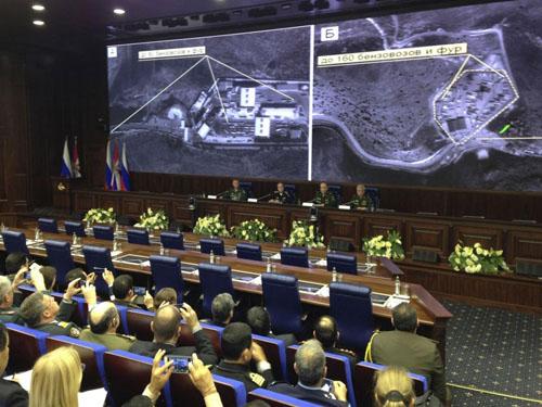 روسیه قاچاق نفت داعش به ترکیه را ثابت کرد+ تصاویر