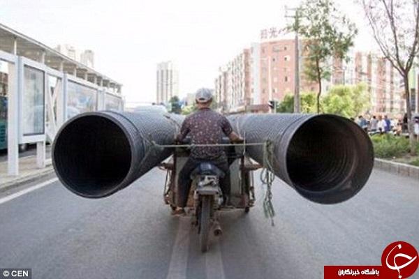 موتورسواران چینی روی دست ایرانی ها بلند شدند +تصاویر