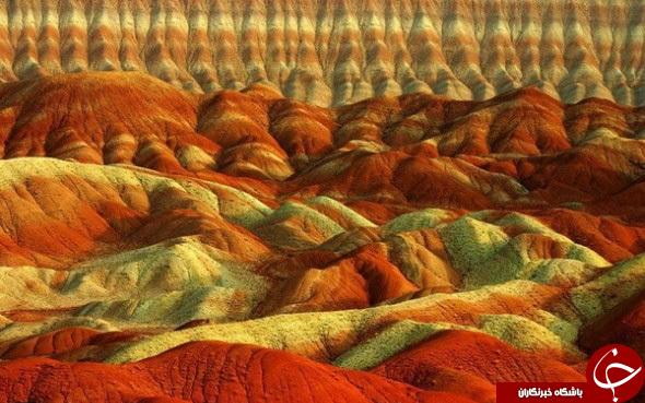 آلاداغ لارزیباترین کوه های رنگی درتبریز+تصاویر