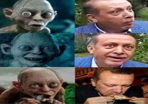 اردوغان در ارباب حلقه ها!+عکس