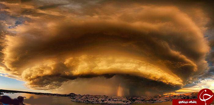 نمایی شگفت انگیز از طوفان در آمریکا