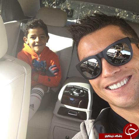 رونالدو با پسرش