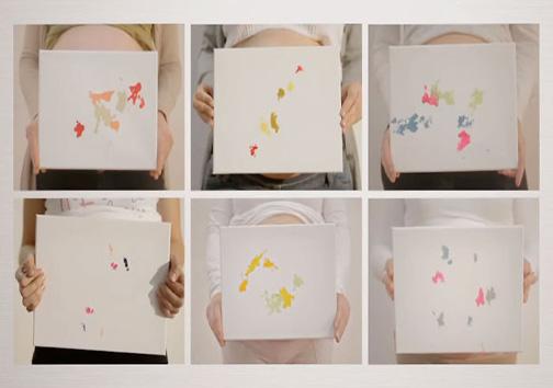 جنین هم نقاشی میکند + تصاویر