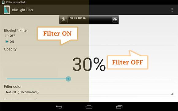 دانلود نرم افزار فیلتر نور آبی صفحه نمایش در اندروید