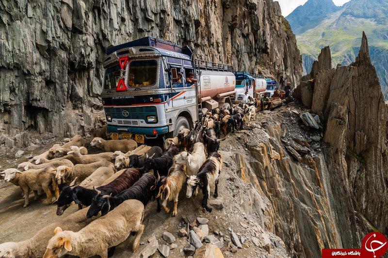 8 جاده خطرناک در دنیا + تصاویر