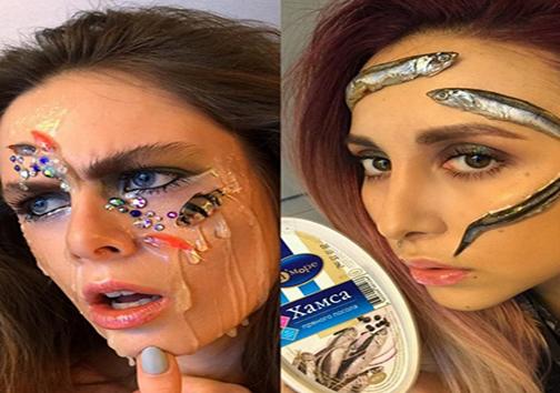 استفاده از ماهی مرده در آرایش صورت! + تصاویر