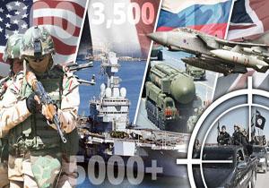 نمایش تسلیحاتی قدرتهای نظامی جهان در جنگ با داعش+ عکس