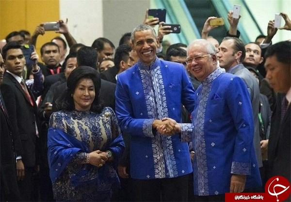 اوباما در لباس محلی کشور مالزی! + عکس