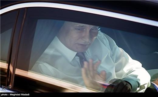 لحظات ورود پوتین به تهران
