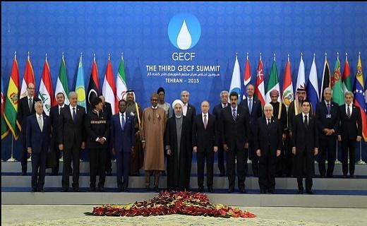 سران 9 کشور صادر کننده گاز عکس یادگاری گرفتند
