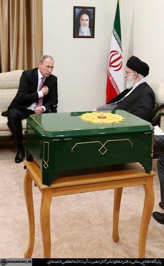 هدیه نفیس پوتین به رهبر معظم انقلاب