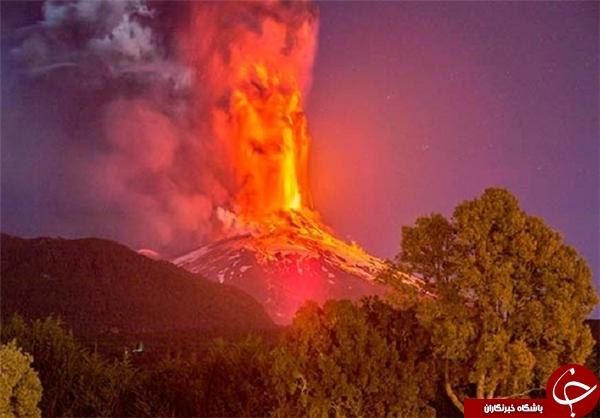فوران آتشفشان کالبوکو پس از 40 سال +تصاویر