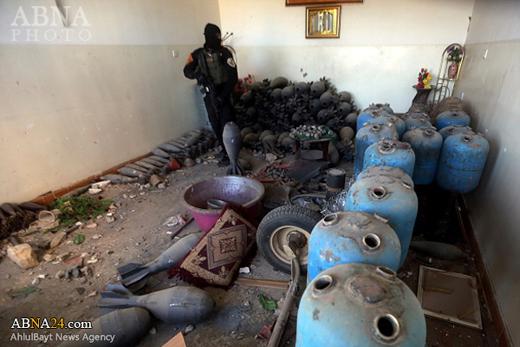 بزرگترین انبار داعش در الرمادی کشف شد+تصاویر