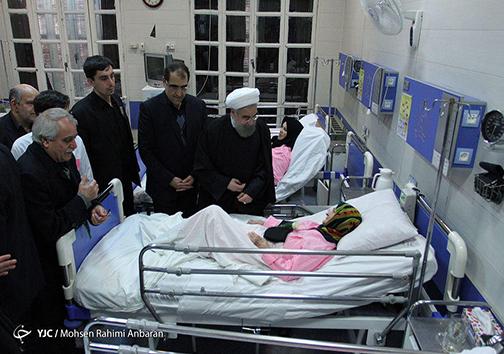 بازدید رییس جمهور از بیمارستان امام رضا(ع) مشهد