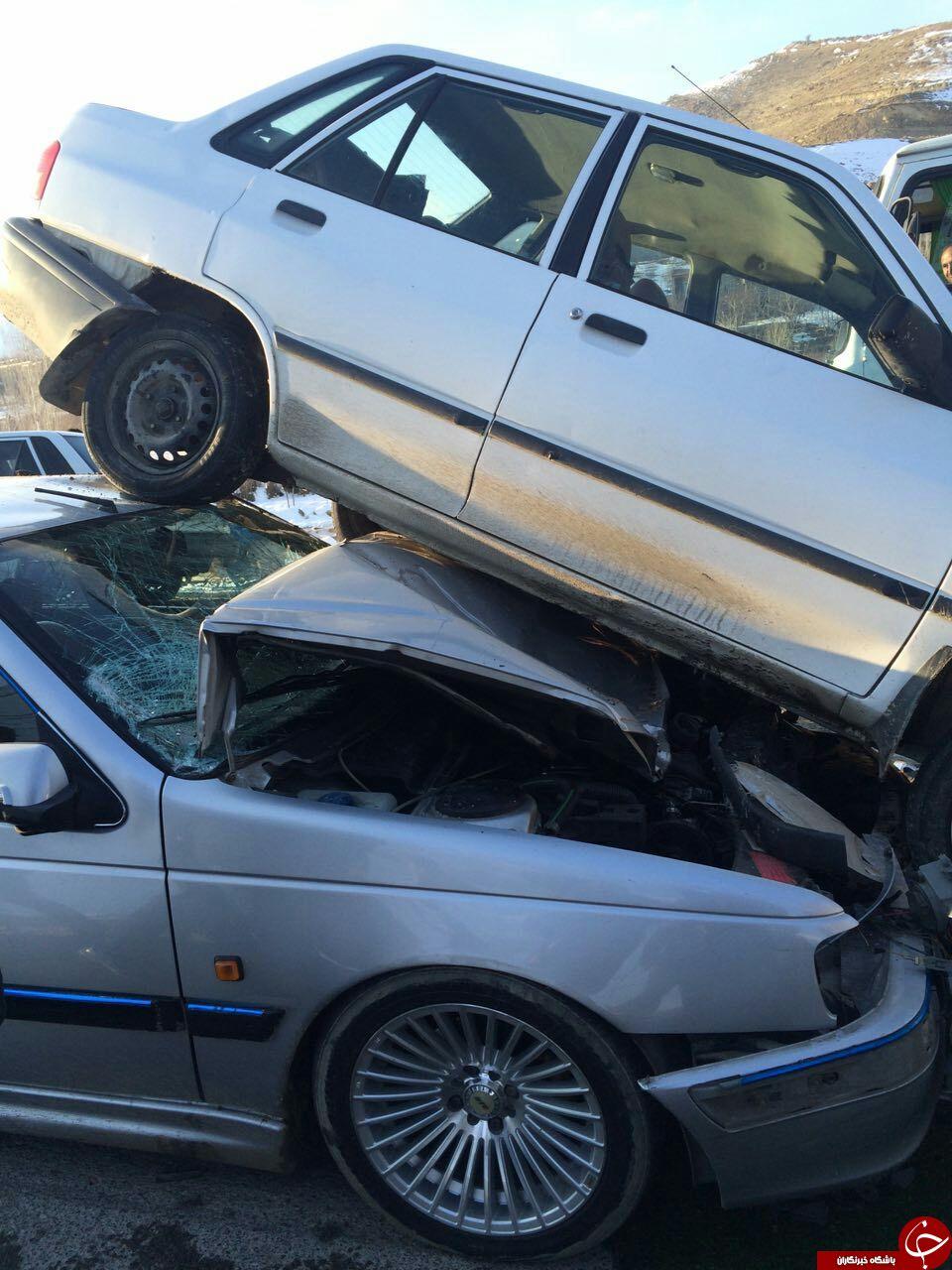 تصادف امروز در جاده بند ارومیه + تصاویر
