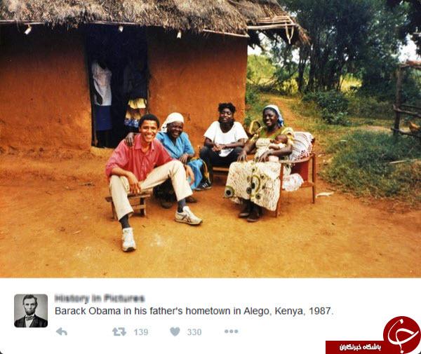 جوانی اوباما در روستای پدری +عکس