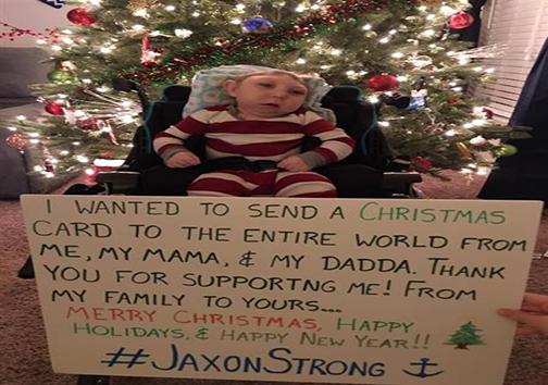 پیام سال نوی خانواده جکسون بوئل به مردم جهان؛ نوزادی با ناهنجاری شدید مغزی+ تصاویر