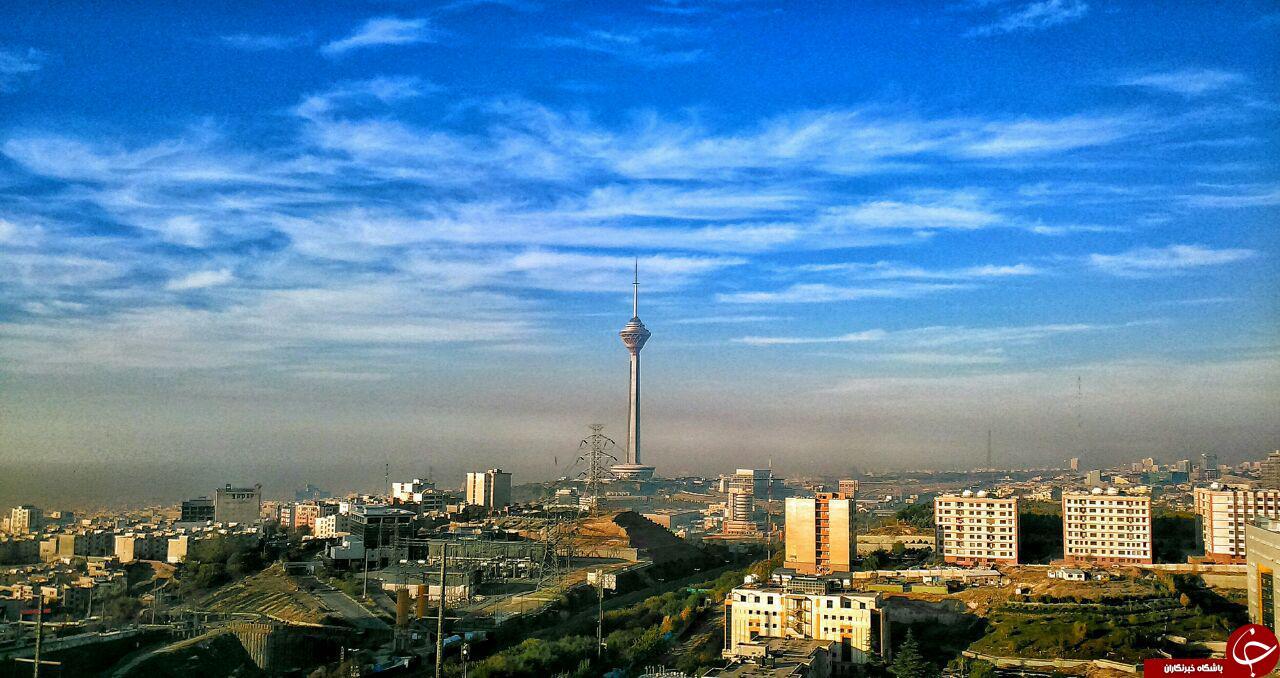 مراحل ناپدید شدن برج میلاد + تصاویر
