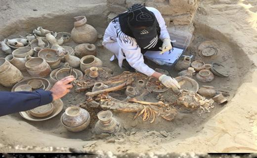 کشف گوری عجیب در بزرگترین قبرستان ایرانباستان + عکس