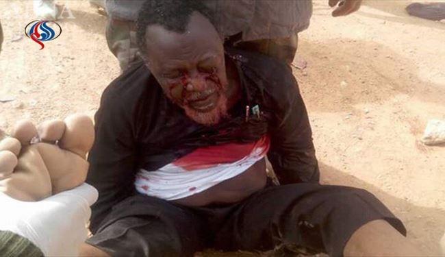 عکسی از وحشیگری نظامیان نیجریه در حق علامه شیخ ابراهیم الزکزاکی