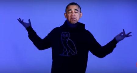 باراک اوباما خواننده رپ شد+ تصاویر