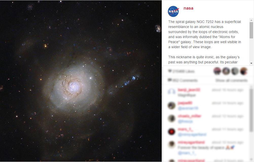 تصادف فضایی که موجب ایجاد یک ظاهر عجیب در کهکشانی شده! + عکس