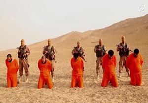 جنایت جدید داعش , اعدام 5 نفر با شلیک به سر + فیلم
